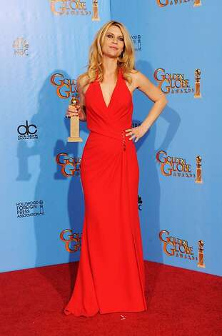 "BEVERLY HILLS, CA - JANUARY 13:  Actress Claire Danes, winner of Best Best Actress in a Television Series (Drama) for ""Homeland,"" poses in the press room during the 70th Annual Golden Globe Awards held at The Beverly Hilton Hotel on January 13, 2013 in Beverly Hills, California.  (Photo by Kevin Winter/Getty Images) Photo: Kevin Winter, Getty Images"