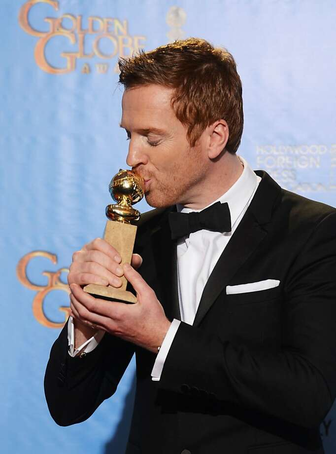 "BEVERLY HILLS, CA - JANUARY 13:  Actor Damian Lewis, winner of Best Actress in a Television Show (Drama) for ""Homeland,"" poses in the press room during the 70th Annual Golden Globe Awards held at The Beverly Hilton Hotel on January 13, 2013 in Beverly Hills, California.  (Photo by Kevin Winter/Getty Images) Photo: Kevin Winter, Getty Images"