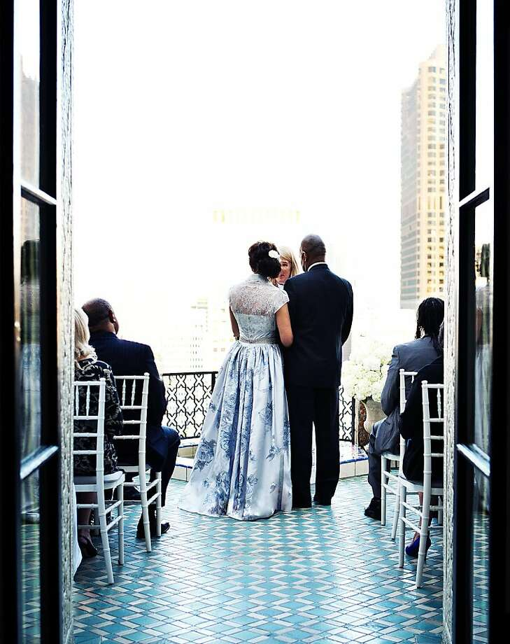 Cecil Newton and Shirley Buckeridge married in the Fairmont penthouse on October 14th. Photo: Billy Winters, Www.billywinters.com/weddings