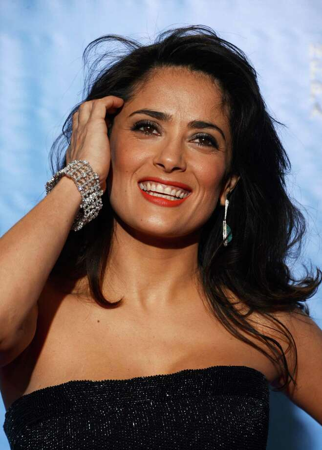 Presenter Salma Hayek poses in the press room during the 70th Annual Golden Globe Awards held at The Beverly Hilton Hotel on January 13, 2013 in Beverly Hills, California. Photo: Kevin Winter, Getty / 2013 Getty Images