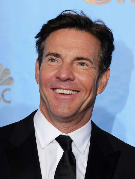 Presenter Dennis Quaid poses in the press room during the 70th Annual Golden Globe Awards held at Th