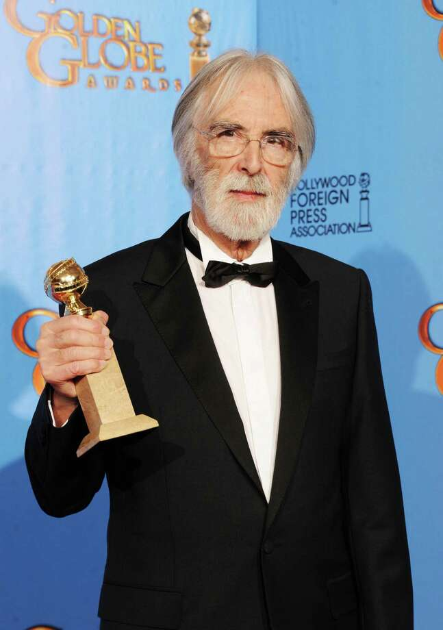"Filmmaker Michael Haneke, winner of Best Foreign Language Film for ""Amour,"" poses in the press room during the 70th Annual Golden Globe Awards held at The Beverly Hilton Hotel on January 13, 2013 in Beverly Hills, California. Photo: Kevin Winter, Getty / 2013 Getty Images"