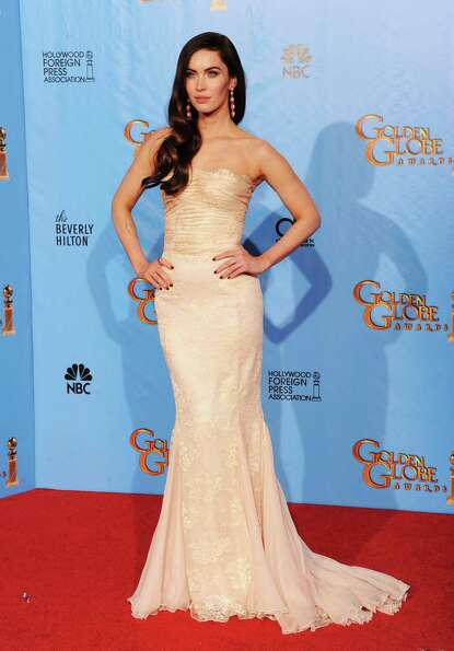 Presenter Megan Fox poses in the press room during the 70th Annual Golden Globe Awards held at The B