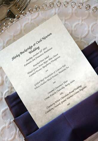 The wedding menu card. Photo: Billy Winters, Www.billywinters.com/weddings