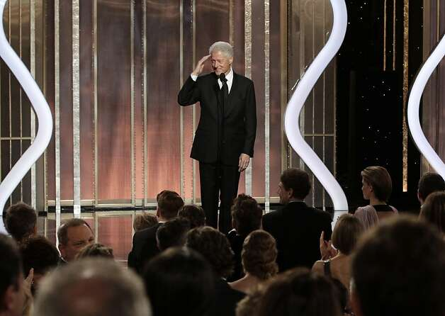 "President Bill Clinton introduces best picture nominee ""Lincoln"" during the 70th annual Golden Globe Awards presentation. The film lost to ""Lincoln."" Photo: Paul Drinkwater, Associated Press"