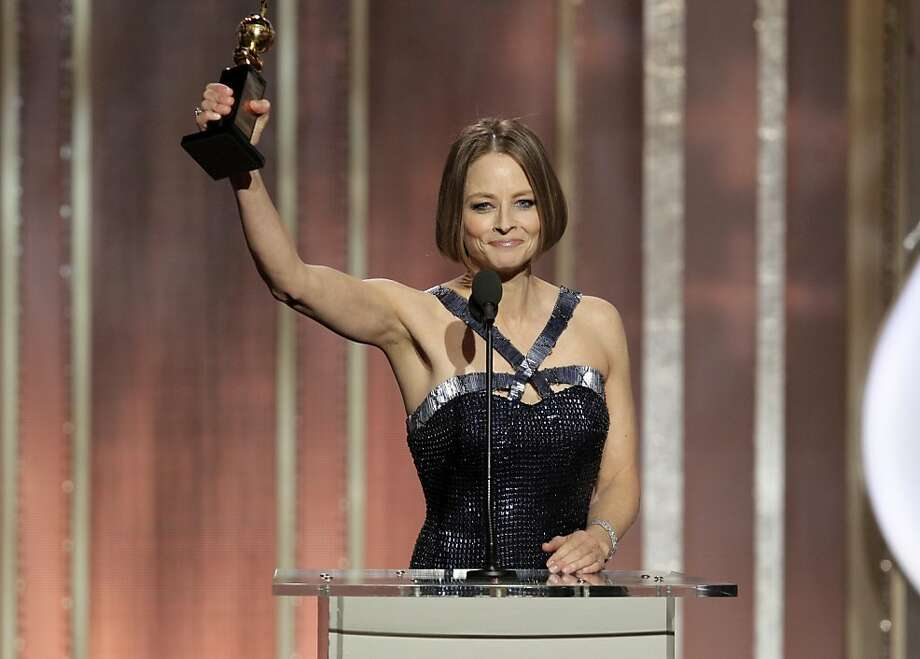This image released by NBC shows Jodie Foster, recipient of the Cecil B. Demille Award, during the 70th Annual Golden Globe Awards at the Beverly Hilton Hotel on Jan. 13, 2013, in Beverly Hills, Calif. (AP Photo/NBC, Paul Drinkwater) Photo: Paul Drinkwater, Associated Press