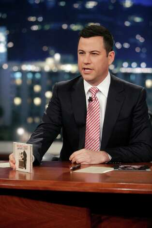 "JIMMY KIMMEL LIVE - Emmy Award-nominated ""Jimmy Kimmel Live"" airs every weeknight (11:35 p.m. - 12:41 a.m., ET),  packed with hilarious comedy bits and features a diverse lineup of guests including celebrities, athletes, musicians, comedians and humorous human interest subjects. The guests for FRIDAY, JANUARY 11 included actress Sofia Vergara (""Modern Family""), author George Lois (""Damn Good Advice"") and musical guest Bruno Mars. (ABC/RANDY HOLMES) JIMMY KIMMEL Photo: Randy Holmes, ABC / © 2013 American Broadcasting Companies, Inc. All rights reserved."