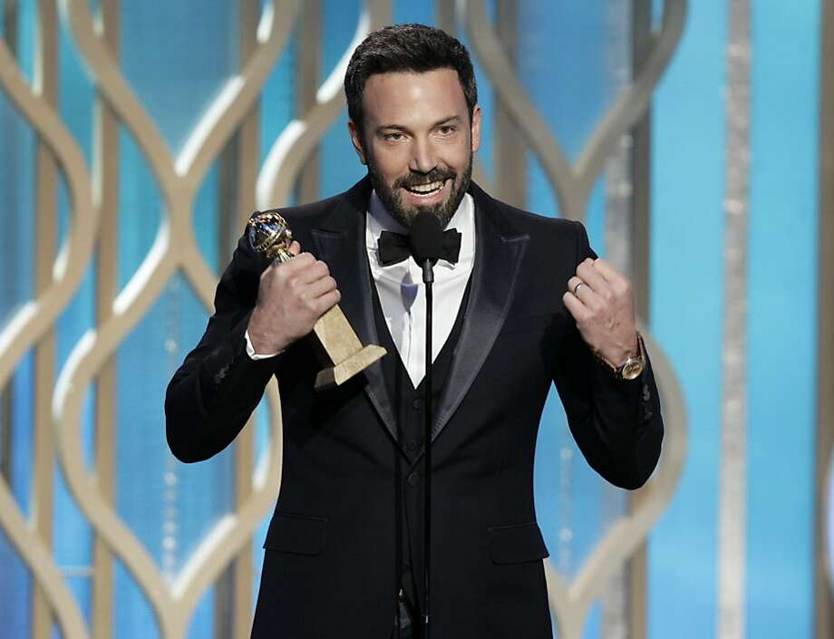 "This image released by NBC shows Ben Affleck with his award for best director for ""Argo"" during the 70th Annual Golden Globe Awards at the Beverly Hilton Hotel on Jan. 13, 2013, in Beverly Hills, Calif. (AP Photo/NBC, Paul Drinkwater) Photo: Paul Drinkwater, Associated Press"