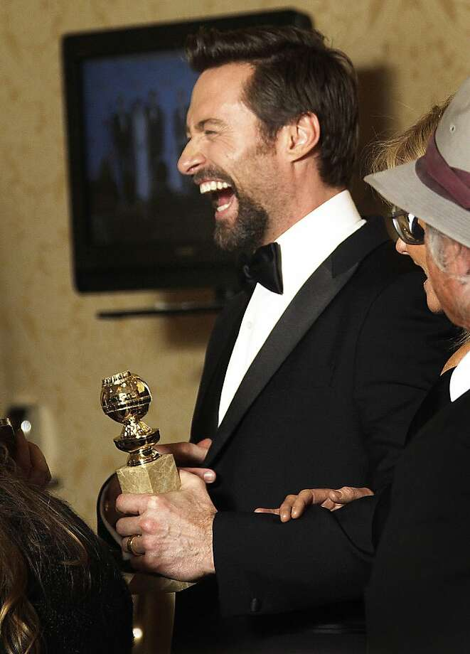Hugh Jackman backstage at the 70th Annual Golden Globe Awards show at the Beverly Hilton Hotel on Sunday, January 13, 2013, in Beverly Hills, California. (Lawrence K. Ho/Los Angeles Times/MCT) Photo: Lawrence K. Ho, McClatchy-Tribune News Service