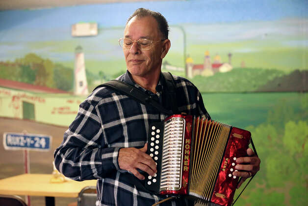 Legendary conjunto accordionist and National Endowment for the Arts Heritage Fellowship recipient Santiago Jimenez, Jr., plays at Carnitas Uruapan at 2530 Ruiz Street, Sunday, Jan. 13, 2013. For the last year or so, Jimenez and bajo sexto musician Margarito Guajardo have performed under the radar on Sunday mornings at the West Side restaurant. Photo: Jerry Lara, San Antonio Express-News / © 2013 San Antonio Express-News