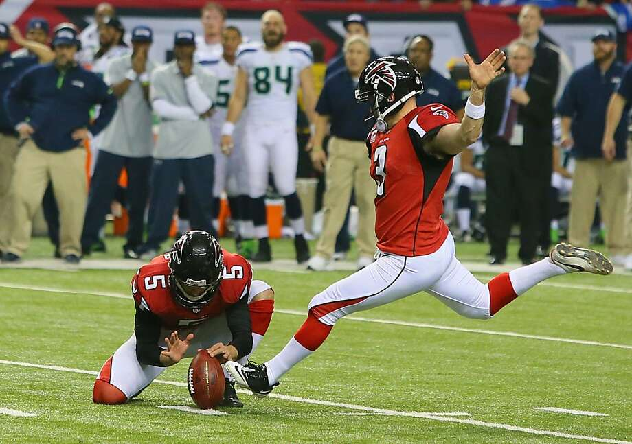 Atlanta Falcons kicker Matt Bryant kicks the game-winning field goal against the Seattle Seahawks during the 4th quarter at the Georgia Dome on Sunday, January 13, 2013, in Atlanta, Georgia. The Atlanta Falcons defeated the Seattle Seahawks, 30-28. (Curtis Compton/Atlanta Journal-Constitution/MCT) Photo: Curtis Compton, McClatchy-Tribune News Service