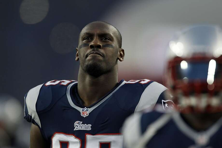 New England Patriots defensive end Chandler Jones during the first half of an AFC divisional playoff NFL football game against the Houston Texans in Foxborough, Mass., Sunday, Jan. 13, 2013. (AP Photo/Charles Krupa) Photo: Charles Krupa, Associated Press