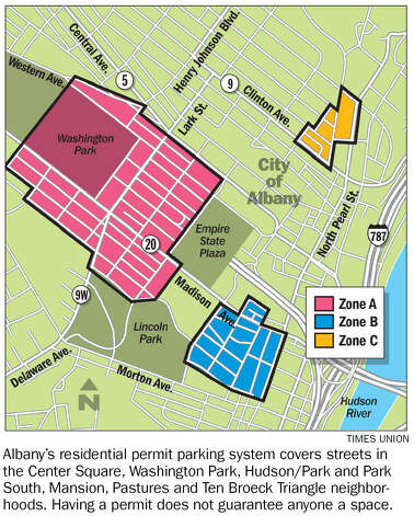 City parking map.