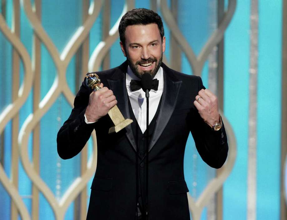 "This image released by NBC shows Ben Affleck with his award for best director for ""Argo"" during the 70th Annual Golden Globe Awards at the Beverly Hilton Hotel on Jan. 13, 2013, in Beverly Hills, Calif. (AP Photo/NBC, Paul Drinkwater) Photo: Paul Drinkwater"