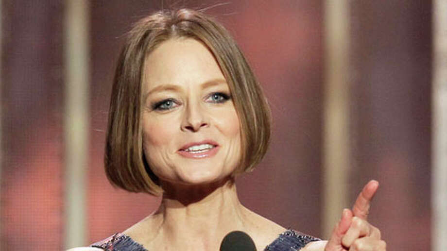 BEVERLY HILLS, CA - JANUARY 13: In this handout photo provided by NBCUniversal,  Actress Jodie Foster receives the Cecil B. Demille Award on stage during the 70th Annual Golden Globe Awards at the Beverly Hilton Hotel International Ballroom on January 13, 2013 in Beverly Hills, California. Photo: Handout, . / 2013 NBCUniversal