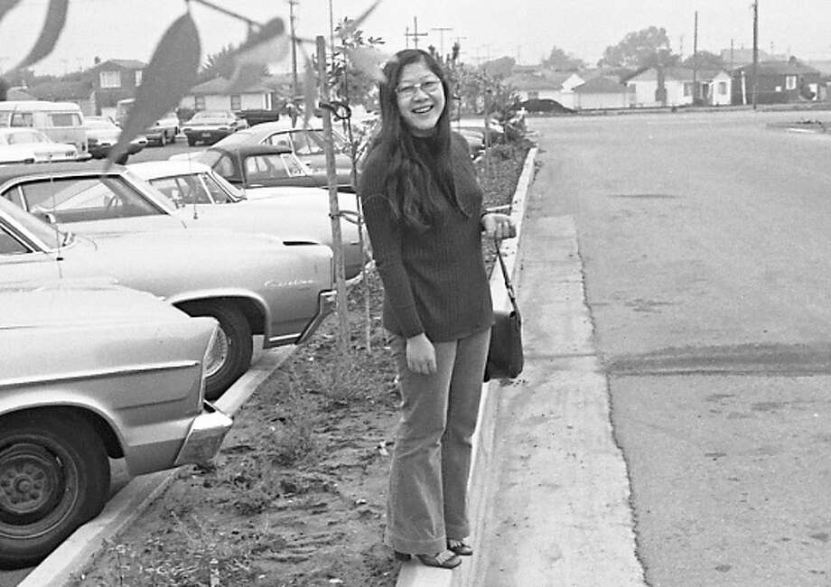 Oct. 3, 1972: Taken during Pak's first year as a Chronicle reporter, at age 24, in the parking lot outside the Tanforan Emporium. This was after the incident with attorney Joseph L. Bortin.