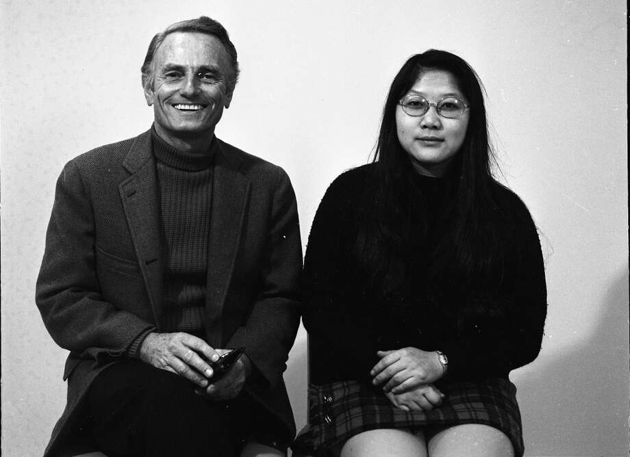 Jan. 3, 1973: Rose Pak posing next to longtime Chronicle TV critic Terry O'Flaherty.  I couldn't find the context for this photo, but it's such a random pairing that I'm guessing they both won an award.