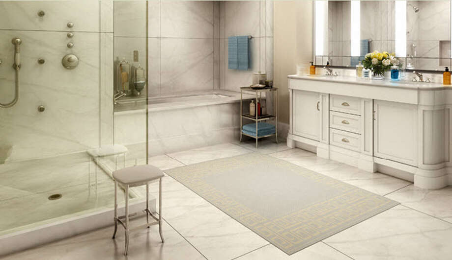 Model unit image of bathroom from website of 15 Central Park West