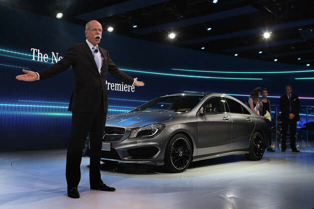 DETROIT, MI - JANUARY 13:  Dr. Dieiter Zetsche Chairman of  the Board at Mercedes-Benz introduces the 2014 CLA at the North American International Auto Show on January 13, 2013 in Detroit, Michigan. The auto show will be open to the public January 19-27. Photo: Scott Olson, Getty Images / 2013 Getty Images