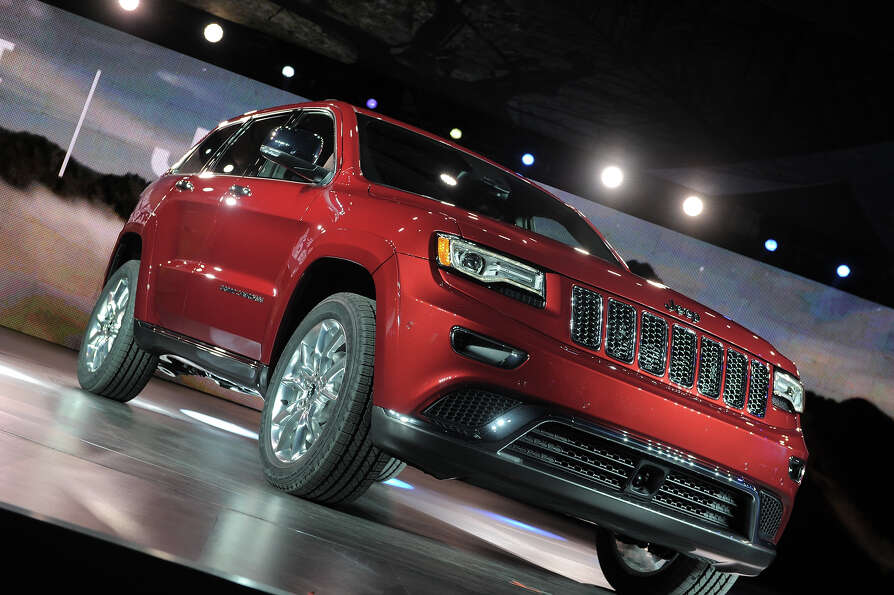 The 2013 Jeep grand cherokee is introduced at the 2013 North American International Auto Show in Det