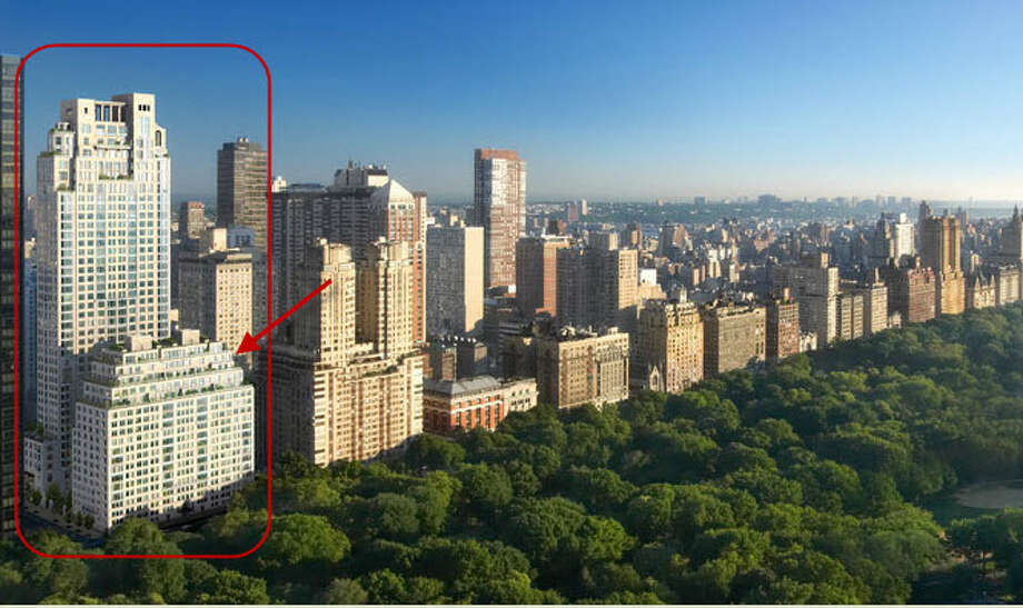 Sandy Weill's top floor penthouse of the 2 building 15 Central Park West complex