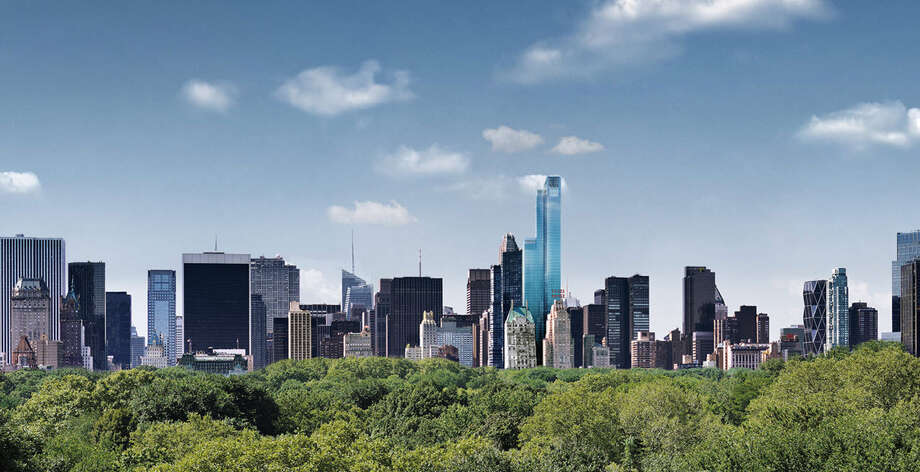 The glass tower provides homeowners with views of Central Park