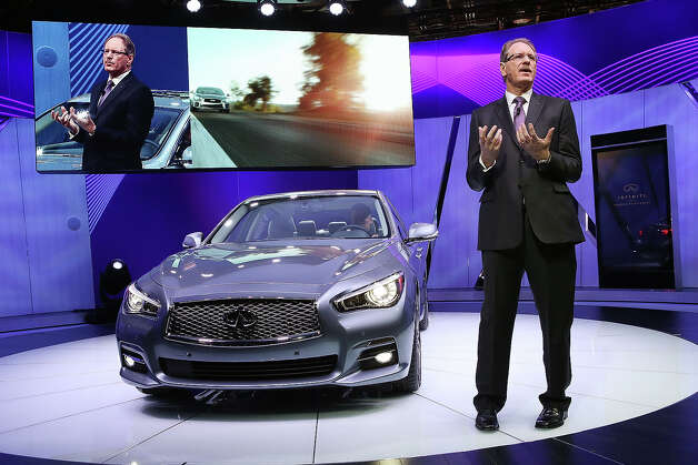 DETROIT, MI - JANUARY 14:  Johan De Nysschen president of Infiniti Motor Corp. introduces the 2014 Q50 to replace their best-selling G sedan at the North American International Auto Show on January 14, 2013 in Detroit, Michigan. The auto show will be open to the public January 19-27. Photo: Scott Olson, Getty Images / 2013 Getty Images