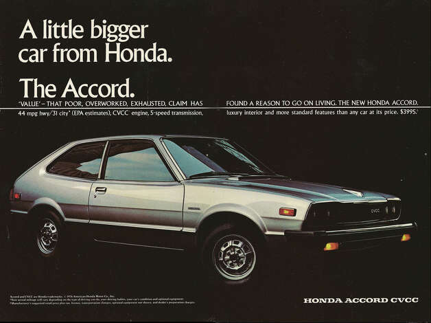 #7: In 1976 the Honda Accord debuted as the Civic's bigger brother. Since then the Accord has gone from a compact to a mid-size to a full-size car. The evolution has worked; Honda has sold 17.5 million Accords and counting. (Photo, Honda 1977)