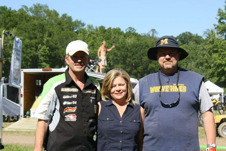 Photo from 2012 of the Blankenship kids, (Daniel Blankenship, Gayla Harris and Dave Blankenship). This photo was taken in Jefferson Texas at a mini-family reunion. The family gathered at Diamond Don s Annual Vintage Racing Event to watch our nephew race motocross. Strong family ties hammered into us by our parents have kept us very close over the years. Each event we gather at together is nothing but hilarious fun as we recall growing up, getting into trouble (at least us boys did, sometimes just to protect our sister) all trying to keep our many good childhood memories fresh. Whenever we are together we feel like we are back in grade school, we feel young again. Being together is our fountain of youth. Photo: Blankenship, Reader Submission