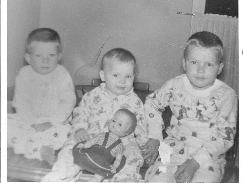 Then: Photo from 1964 of the Blankenship kids, (from the left Daniel 2, Gayla, 1, Dave 4) was taken at Christmas at their grandmothers house in Stamps Arkansas. Photo: Blankenship, Reader Submission