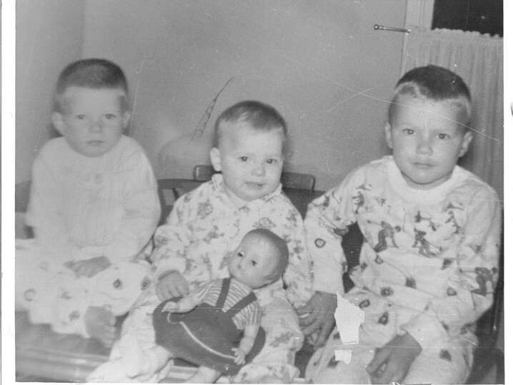 Photo from 1964 of the Blankenship kids, (from the left Daniel 2, Gayla, 1, Dave 4) was taken at Chr
