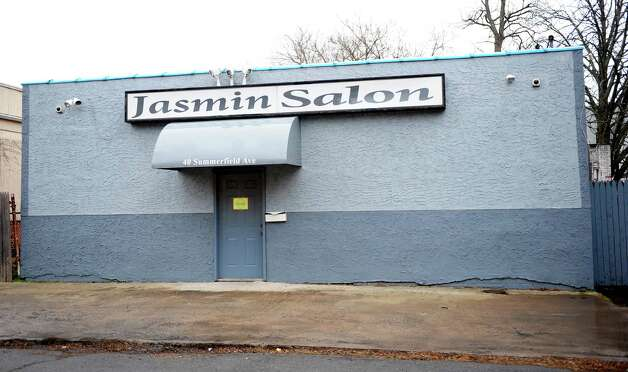 Jasmin Salon at 40 Summerfield Ave. in Bridgeport, Conn. Photo: Autumn Driscoll / Connecticut Post