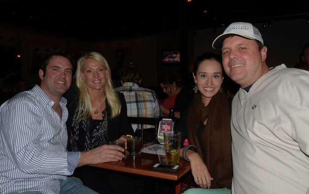 Justin Watts (from left), Holly Baldwin, Andrina Cavazos (cq) and Toby Castelaw (cq) drink it up at the Angry Elepant on January 9, 2012. Robin Johnson Photo: Robin Johnson