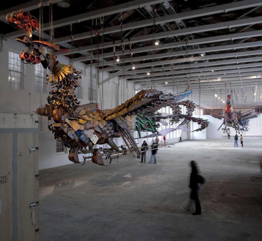 Work from Xu Bing: Phoenix at Mass MoCA through October 2013. (Courtesy Mass MioCA) Photo: Art Evans / Art Evans
