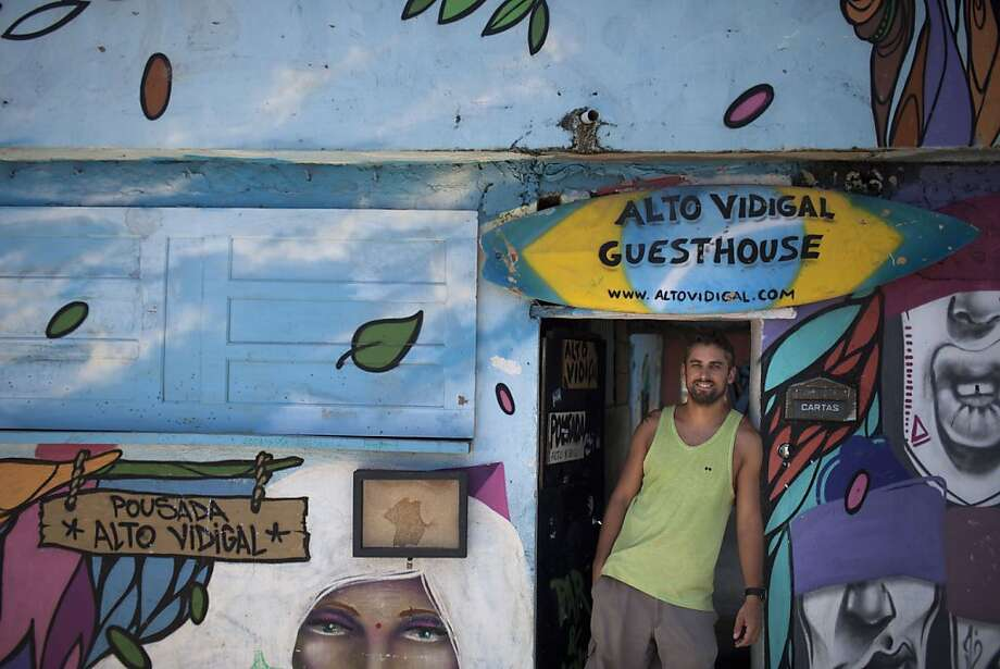 Austrian Andrew Wieland bought property in the Vidigal slum in Rio de Janeiro for $10,000, fixed it up, and says he won't sell it for less than $750,000. Photo: Felipe Dana, Associated Press
