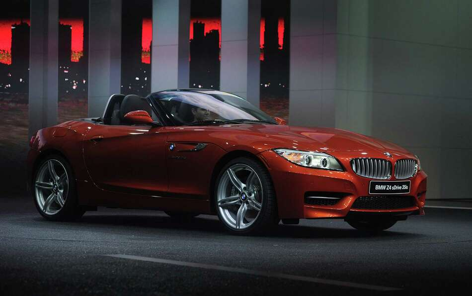 The Bayerische Motoren Werke AG (BMW) Z4 sDrive 35is convertible vehicle is unveiled during the 2013