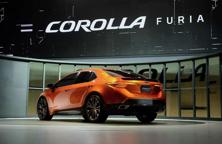 The Toyota Motor Corp. Corolla Furia concept vehicle is displayed  after being unveiled during the 2013 North American International Auto Show (NAIAS) in Detroit, Michigan, U.S., on Monday, Jan. 14, 2013. The Detroit auto show runs through Jan. 27 and will display over 500 vehicles, representing the most innovative designs in the world. Photographer: Daniel Acker/Bloomberg Photo: Daniel Acker, Bloomberg / © 2013 Bloomberg Finance LP