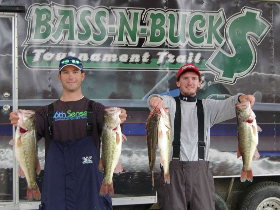 Brian Shook and Danny Iles were among the first to weigh their catch, and held on for a 1st place win by a narrow margin  Photo by Patty Lenderman - Lakecaster
