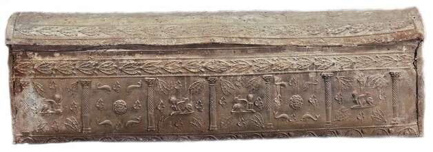 This Roman carcophagus is decorated with images of sphinxes, dolphins and Medusa heads. Photo: San Antonio Museum Of Art