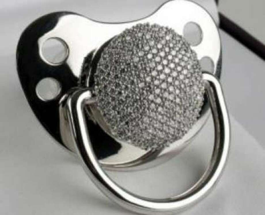 3ct diamond pacifier, $17,000. This crystal-studded binkie is all bling with 278 diamonds set in fine European white gold. amazon.com