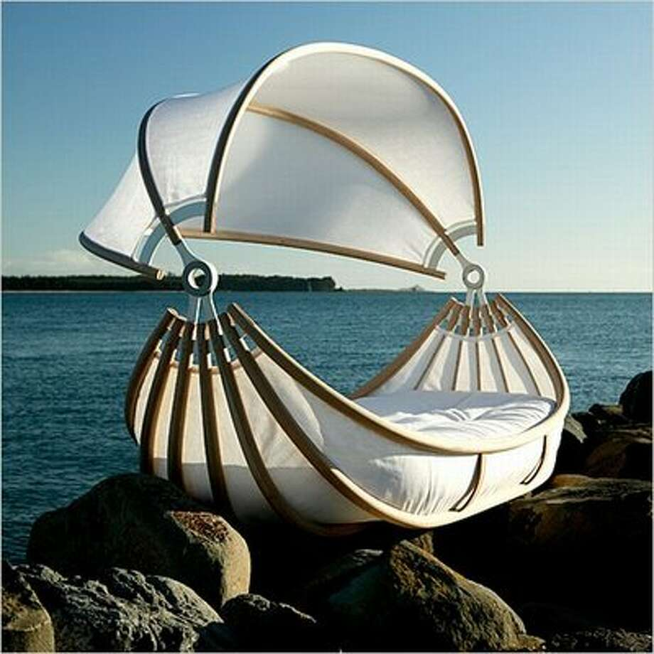 Float baby bed, $25,0000. This bed just might inspire your baby to sail the seven seas someday. Sailor David Trubridge designed the eco-friendly crib to look like an ancient sailing ship.  okooko.com