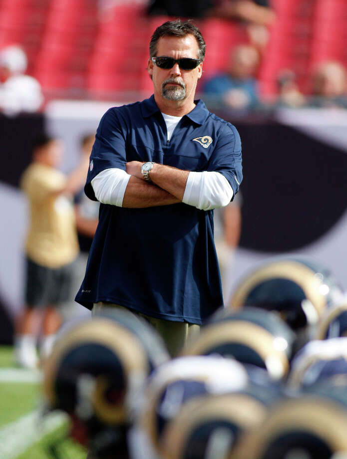 HOMESt. Louis (7-8-1)Jeff Fisher, the former Oilers and Titans coach, makes his return to Houston in his second season with the Rams, who improved by five wins in his first season. Photo: Reinhold Matay, Associated Press / FR156687 AP
