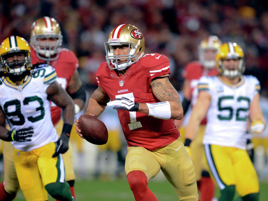 AWAYSan Francisco (11-4-1)New QB sensation Colin Kaepernick had one carry for 12 yards vs. the Texans in the preseason last year. He's a bit more established for next season. Photo: Doug Duran, McClatchy-Tribune News Service / Contra Costa Times
