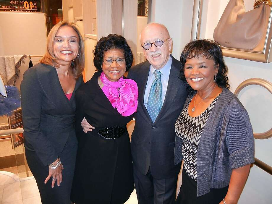 KRON anchor Pam Moore (left), honoree Belva Davis, co-host Wilkes Bashford and Barbara Rodgers. Photo: Catherine Bigelow, Special To The Chronicle
