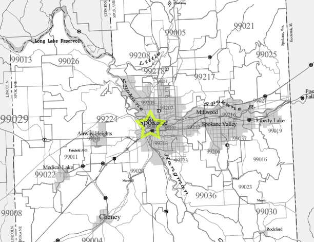 1. 99201: The median family income in this Spokane-area ZIP code was $30,732. Photo: /