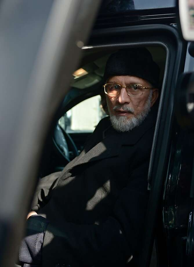 Tahir-ul-Qadri led the rally against government officials. Photo: Farooq Naeem, AFP/Getty Images