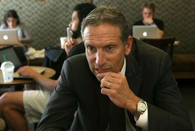 Starbucks CEO Howard Schultz urged retailers to get active in ending congressional gridlock. Photo: Liz Hafalia, The Chronicle