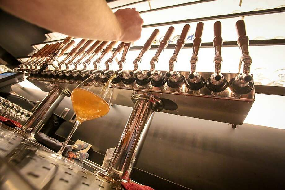 Abbot's Cellar in San Francisco offers a wide variety of beer on tap. Photo: John Storey, Special To The Chronicle