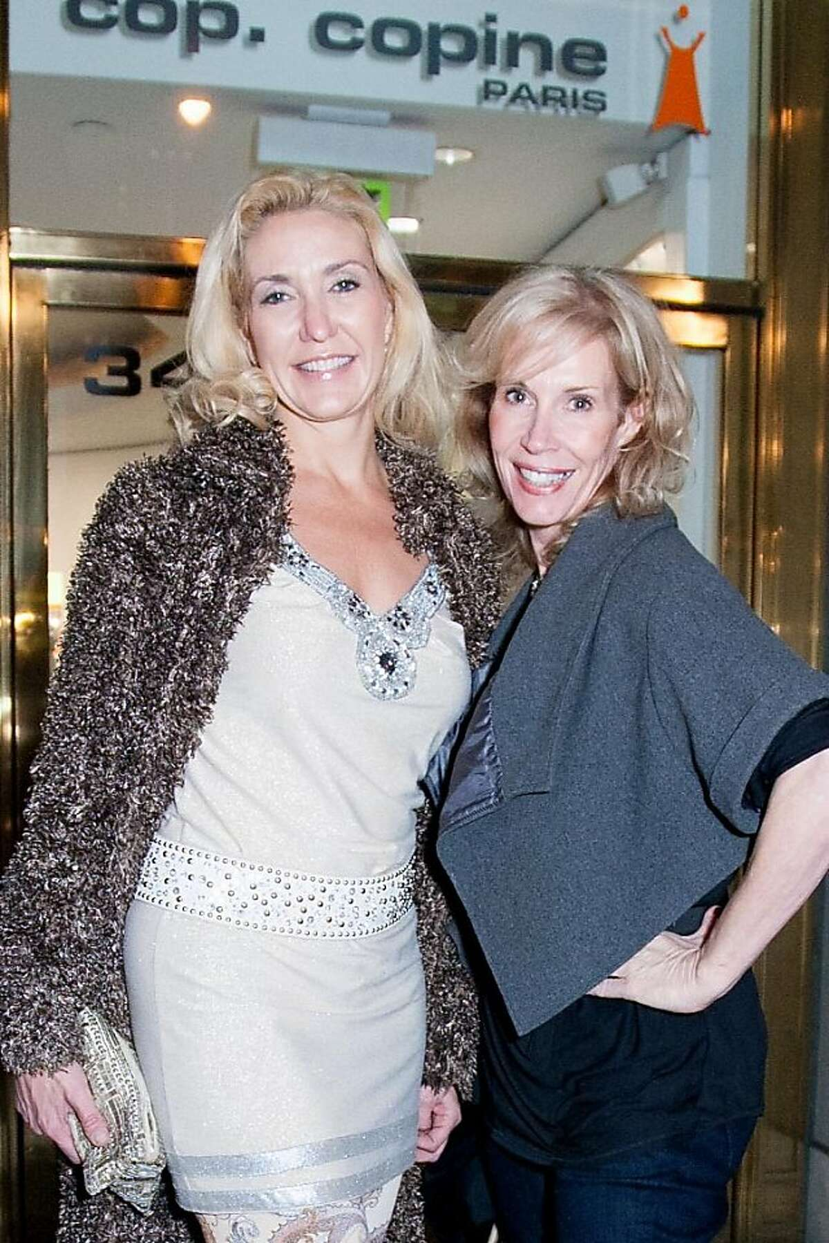 Friends of Charleston Pierce gathered for a holiday party at the Cop.Copine boutique Dec. 12, 2012, in San Francisco. L-R: KP Cote and Denise Elizabeth.