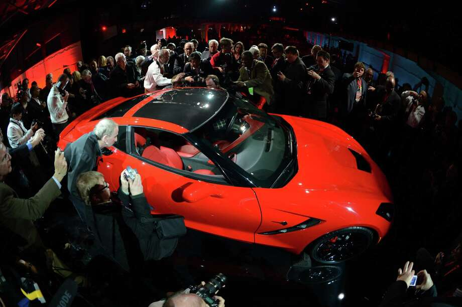 The redesigned 2014Chevrolet Corvette Stingray is introduced the night before press previews start at the 2013 North American International Auto Show in Detroit, Michigan, January 13, 2013. AFP PHOTO/Stan HONDA Photo: .